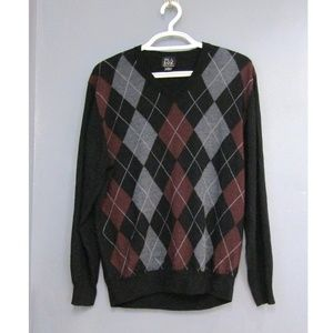 Jos. A. Bank 100% Merino Wool Argyle Sweater XL